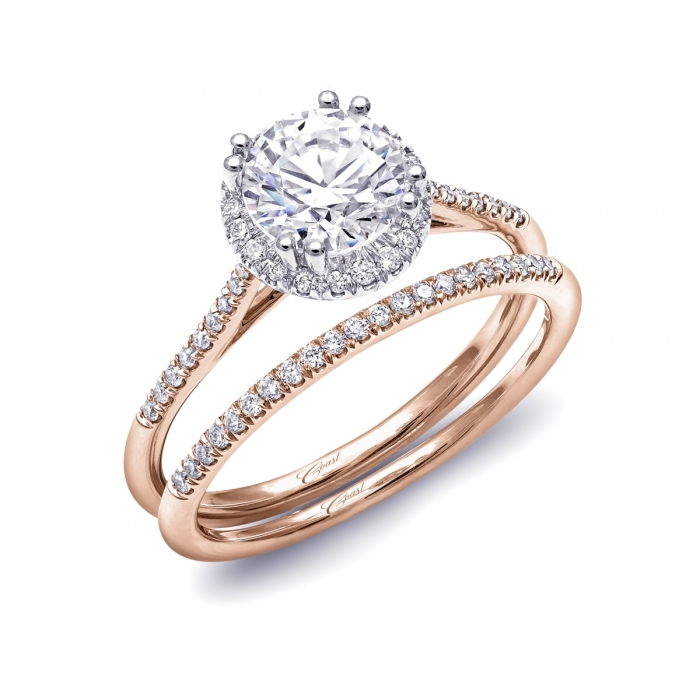 rose gold collection coast diamond bridal engagement ring